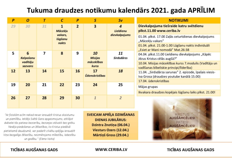Tukuma Draudzes kalendars 04.2021. (1)