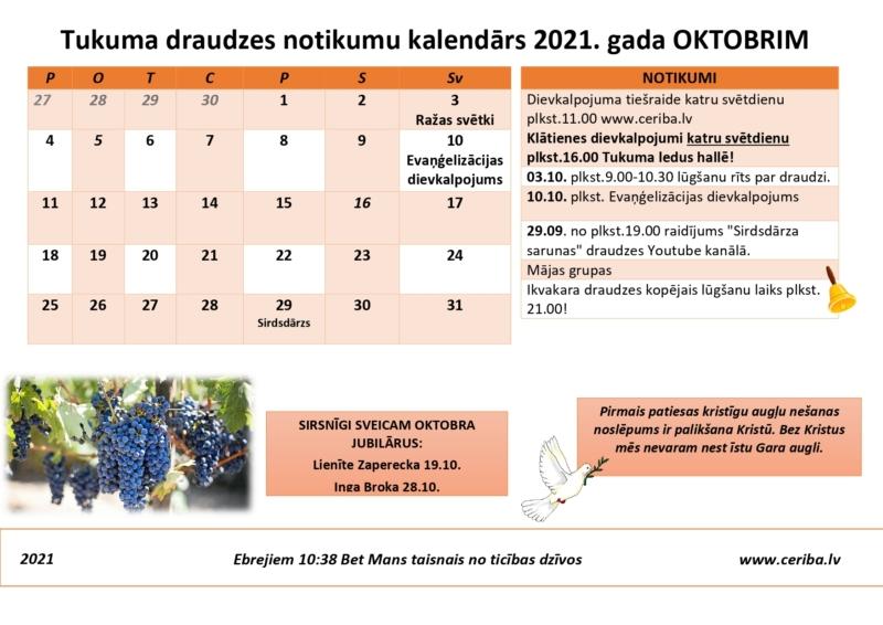 Tukuma draudzes kalendārs 10.2021_1
