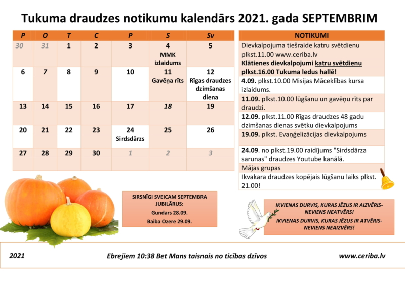Tukuma draudzes kalendars 09.2021-1
